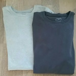 2 Short sleeve LOFT shirts